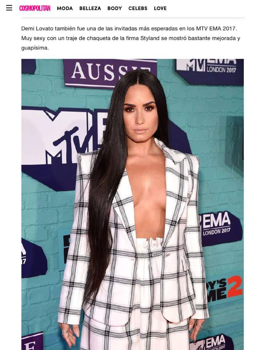 Demi Lovato Styland Ema 13 Mtv Emas London Blog