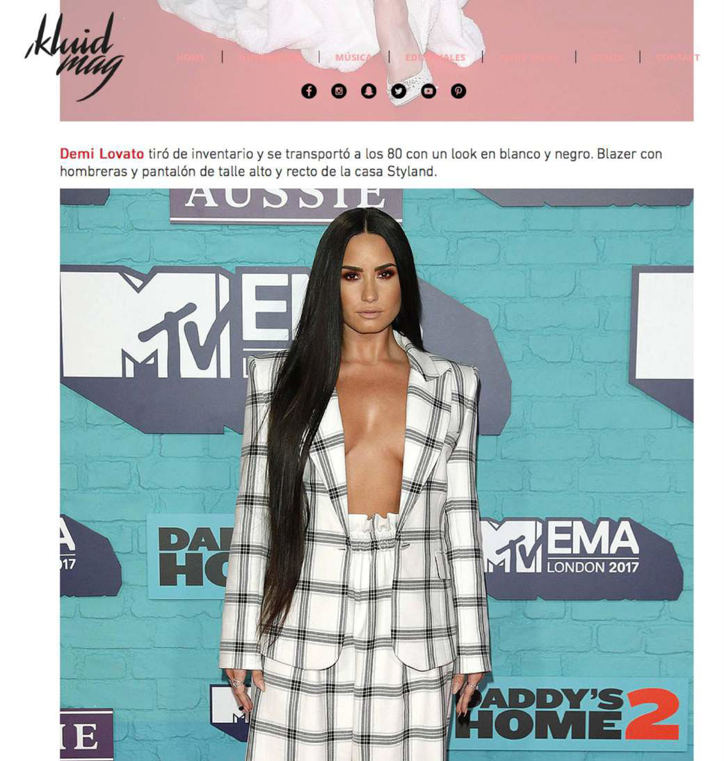 Demi Lovato Styland Ema 75 Mtv Emas London Blog