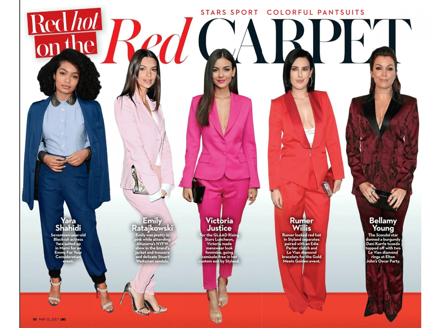 RED HOT ON THE RED CARPET