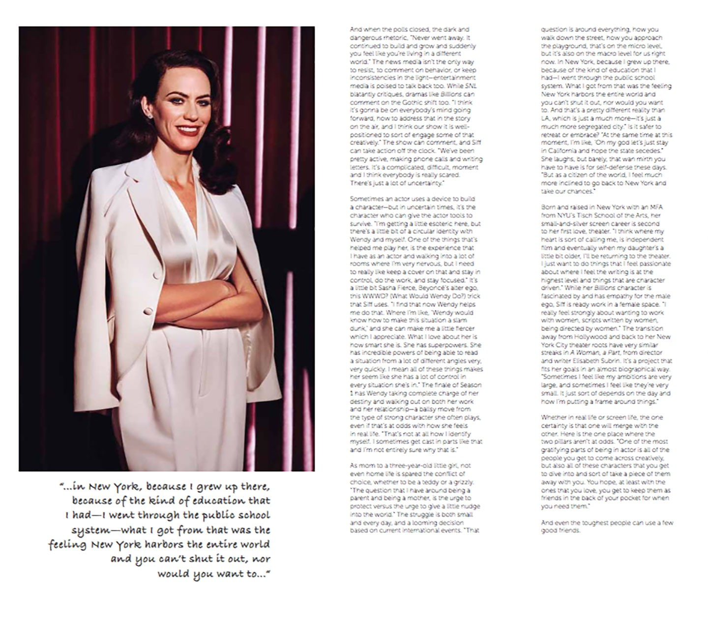 MOVES MAGAZINE - MAGGIE SIFF