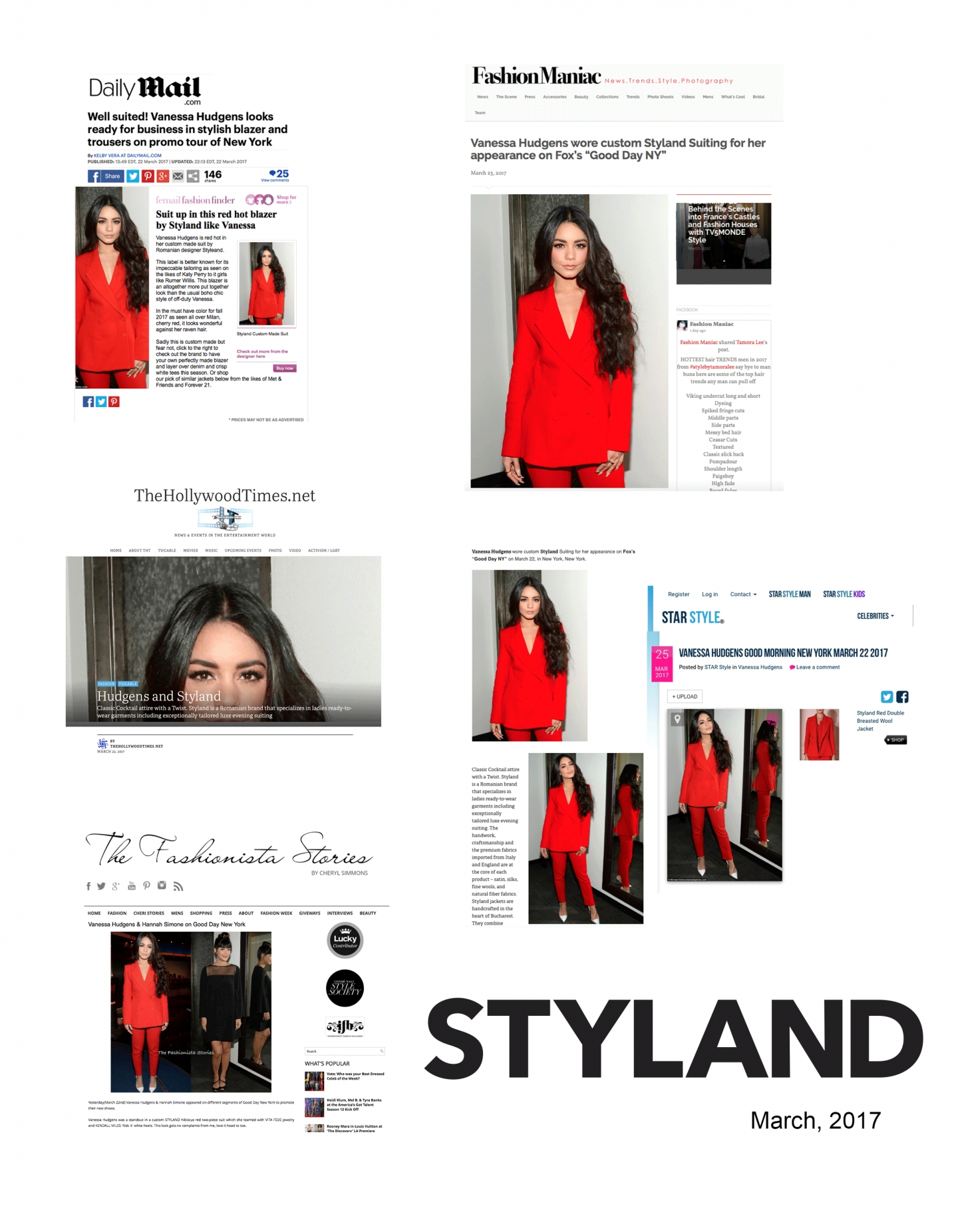VANESSA HUDGENS STUNS IN A STYLAND RED SUIT