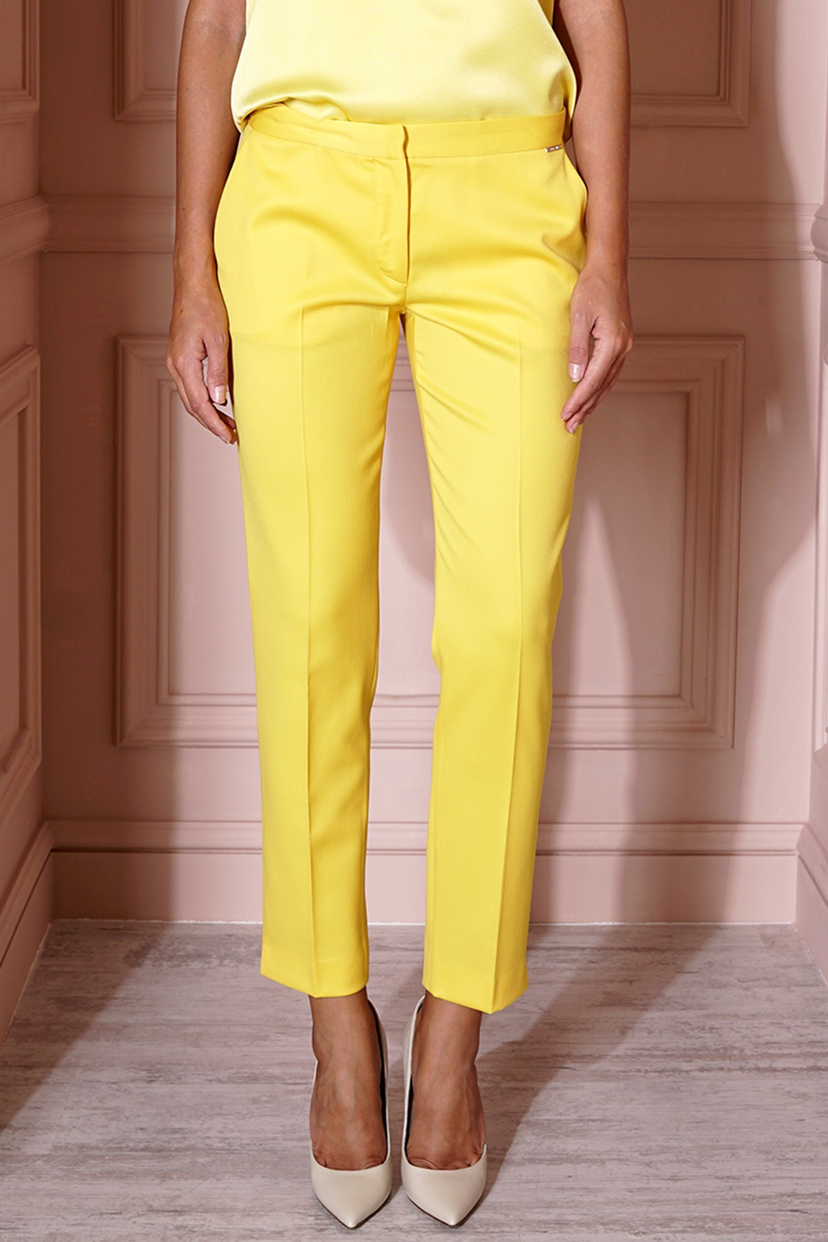 YELLOW PREMIUM WOOL PANTS
