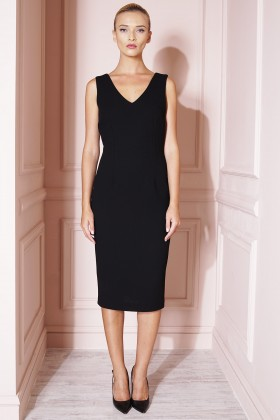 BLACK DRESS WOOL