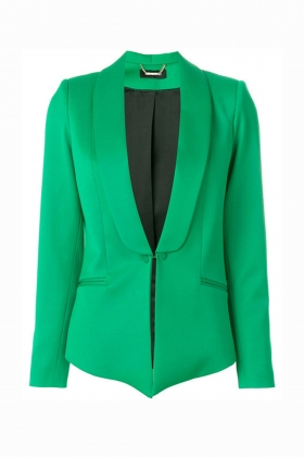 PREMIUM GREEN WOOL TUXEDO WITH SHAWL LAPEL