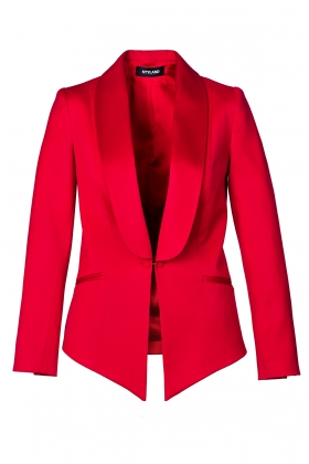 PREMIUM RED WOOL TUXEDO WITH SHAWL LAPEL