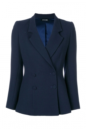 NAVY DOUBLE BREASTED WOOL JACKET