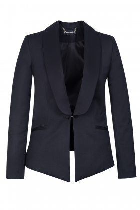BLACK WOOL TUXEDO WITH SHAWL LAPEL