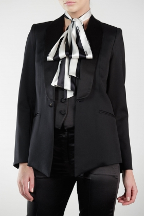 BLACK TUXEDO WITH SILK SHAWL LAPEL