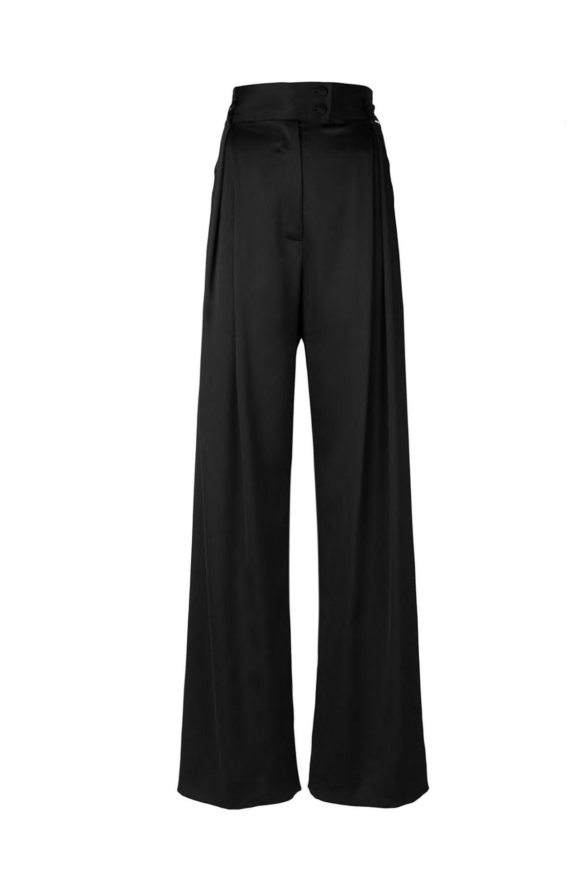 BLACK SUPER WIDE-LEG PANTS