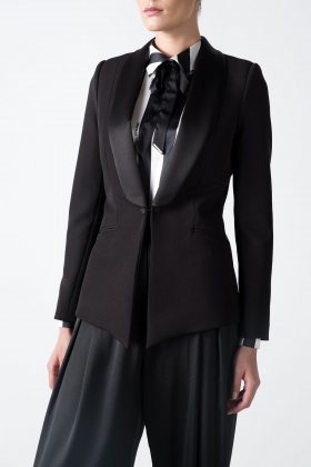 BLACK TUXEDO WITH SATIN SHAWL LAPEL