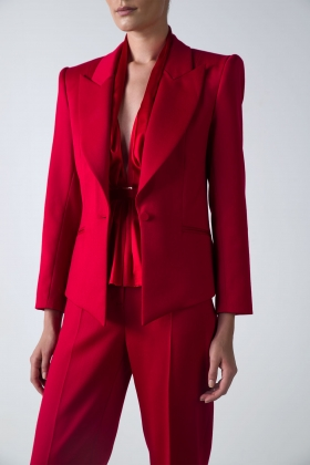 RED STATEMENT JACKET