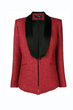 RED TUXEDO WITH SILK SHAWL LAPEL