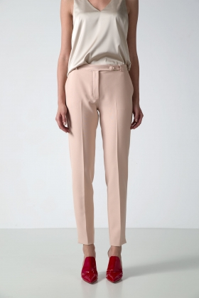 NUDE SLIM-LEG PANTS