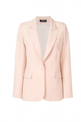 NUDE BLAZER WITH PEAK LAPELS