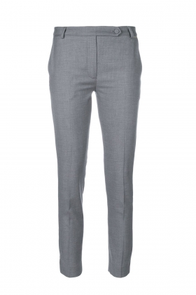 GRAY PANTS WITH SIDE STRIPE