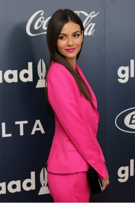 HOT PINK PREMIUM WOOL BLAZER WITH PEAK LAPELS