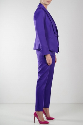 PURPLE TUXEDO WITH SHAWL LAPEL