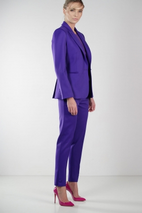 PURPLE JACKET WITH SILK LINING