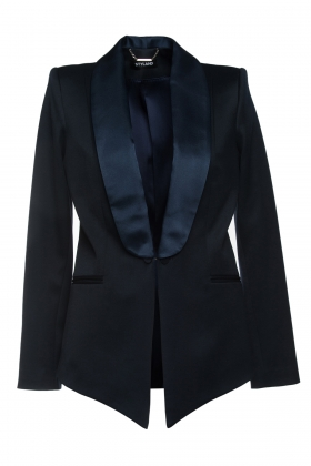 NAVY TUXEDO WITH SILK SHAWL LAPEL