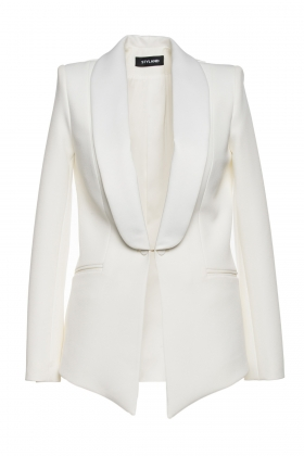 IVORY TUXEDO WITH SILK SHAWL LAPEL