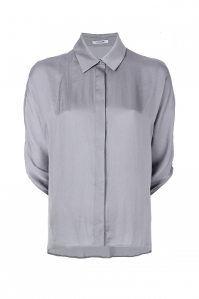GREY SHIRT WITH CLASSIC COLLAR