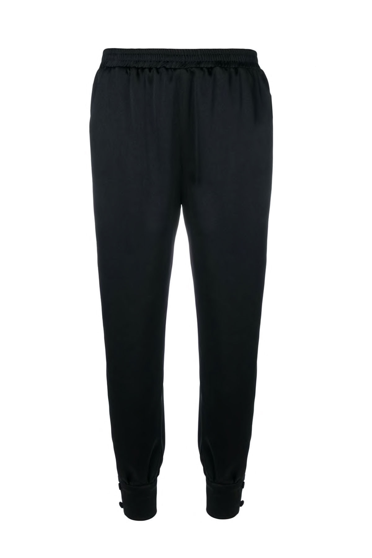 BLACK PANTS WITH TWO BUTTONS CUFF