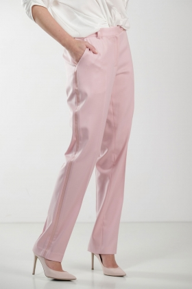 PINK TAILORED TROUSERS WITH STRIPE