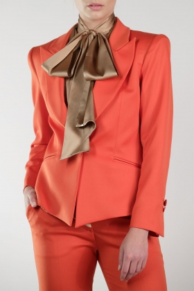 ORANGE STATEMENT JACKET