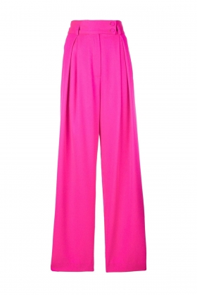 FLUO PINK SUPER WIDE-LEG PANTS