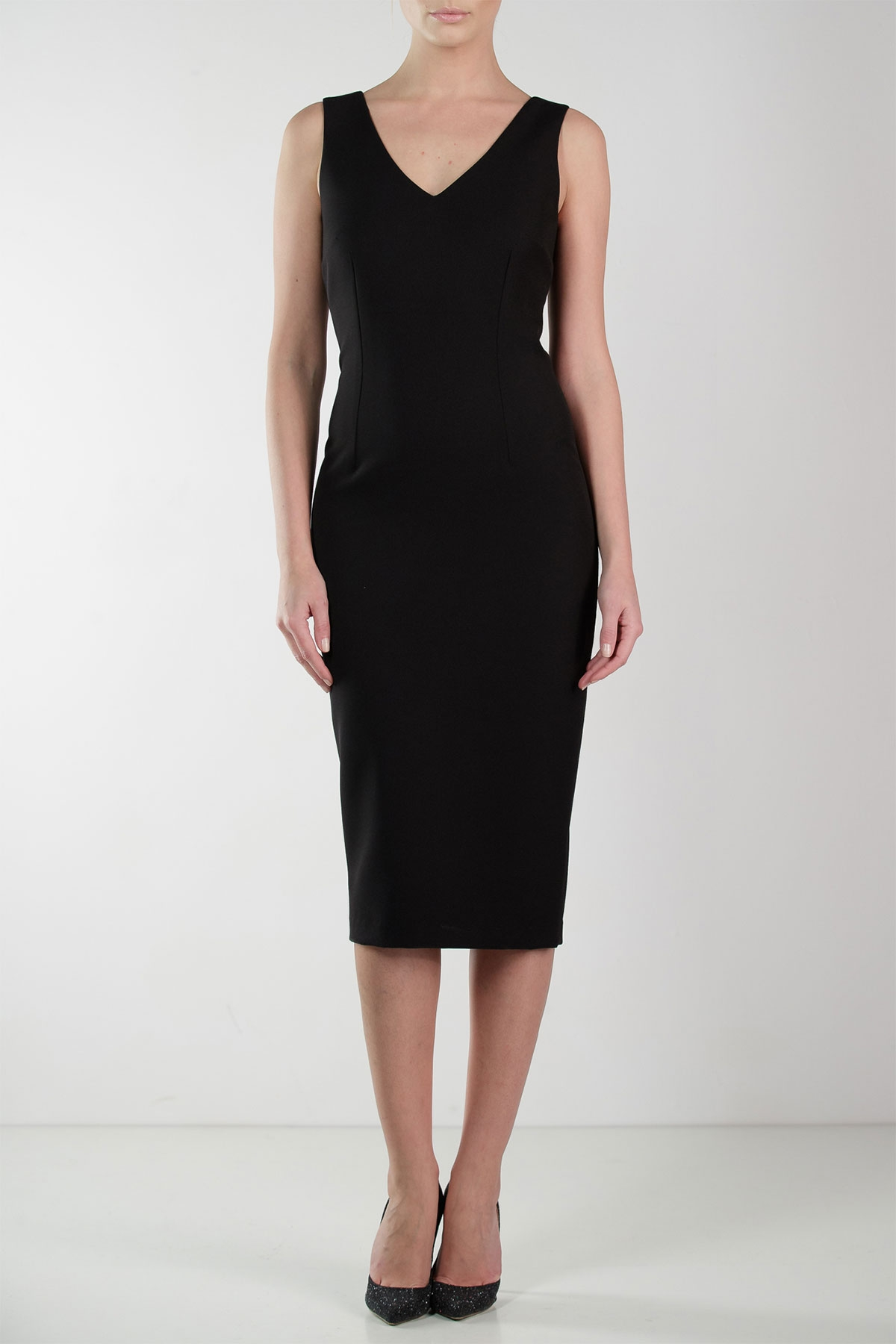 SLEEVLESS BLACK DRESS