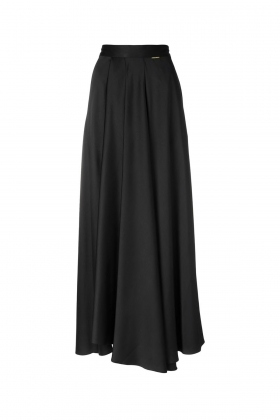 BLACK LONG SKIRT WITH SINGLE POCKET
