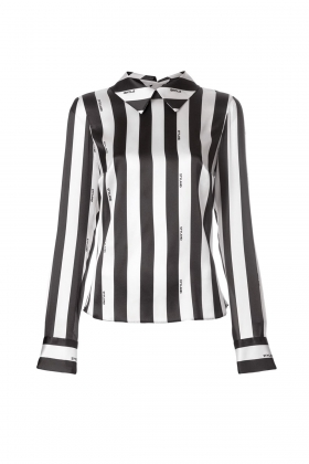 STRIPE SHIRT WITH OPEN BACK