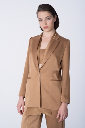 GOLDEN SATIN BLAZER