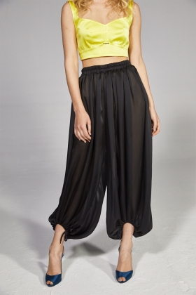 PANTALON TRANSPARENT NEGRU