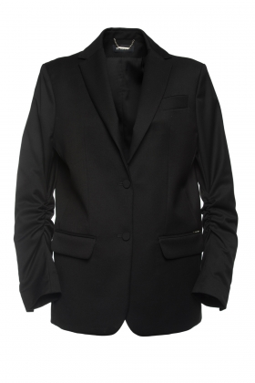 BLACK OVERSIZED BLAZER WITH BLACK SATIN