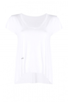 WHITE FINE JERSEY HANDCRAFTED T-SHIRT