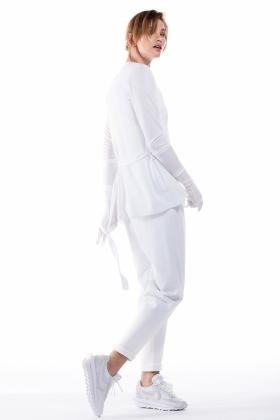JERSEY WHITE CARDIGAN
