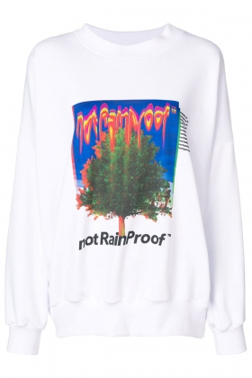 NOT RAIN PROOF WHITE SWEATSHIRT