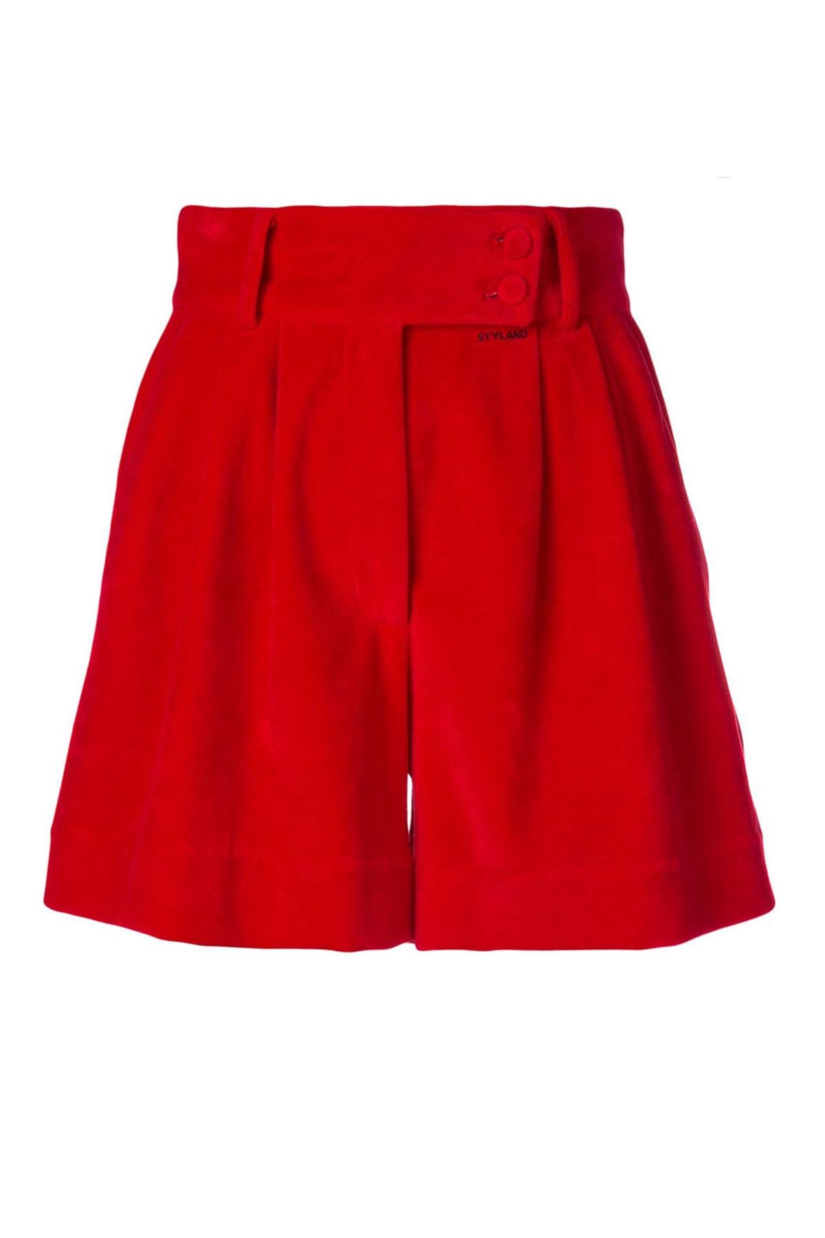 RED VELVET SHORT PANTS