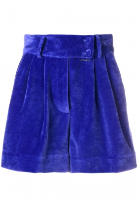 BLUE VELVET SHORT PANTS