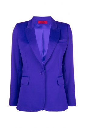 PURPLE WOOL BLAZER WITH PEAK LAPELS