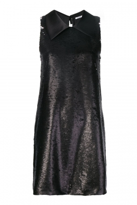 SEQUINED MINI DRESS WITH DETACHABLE SILK SCARF