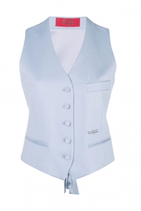 BLUE VEST WITH SILK BACK AND LINING