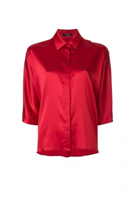 RED SHIRT WITH CLASSIC COLLAR