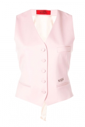 PINK VEST WITH SILK BACK AND LINING