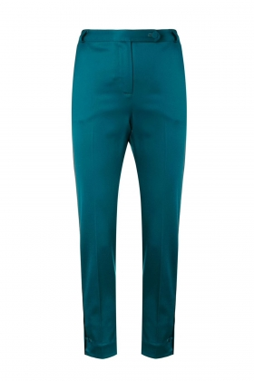 DARK GREEN PREMIUM WOOL PANTS
