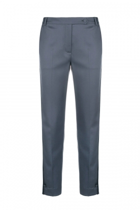 GREY PREMIUM WOOL PANTS