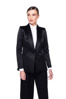 BLACK SHAWL BLAZER