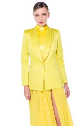 YELLOW SHAWL BLAZER