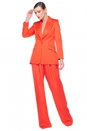 ORANGE WIDE PEAK LAPEL BLAZER